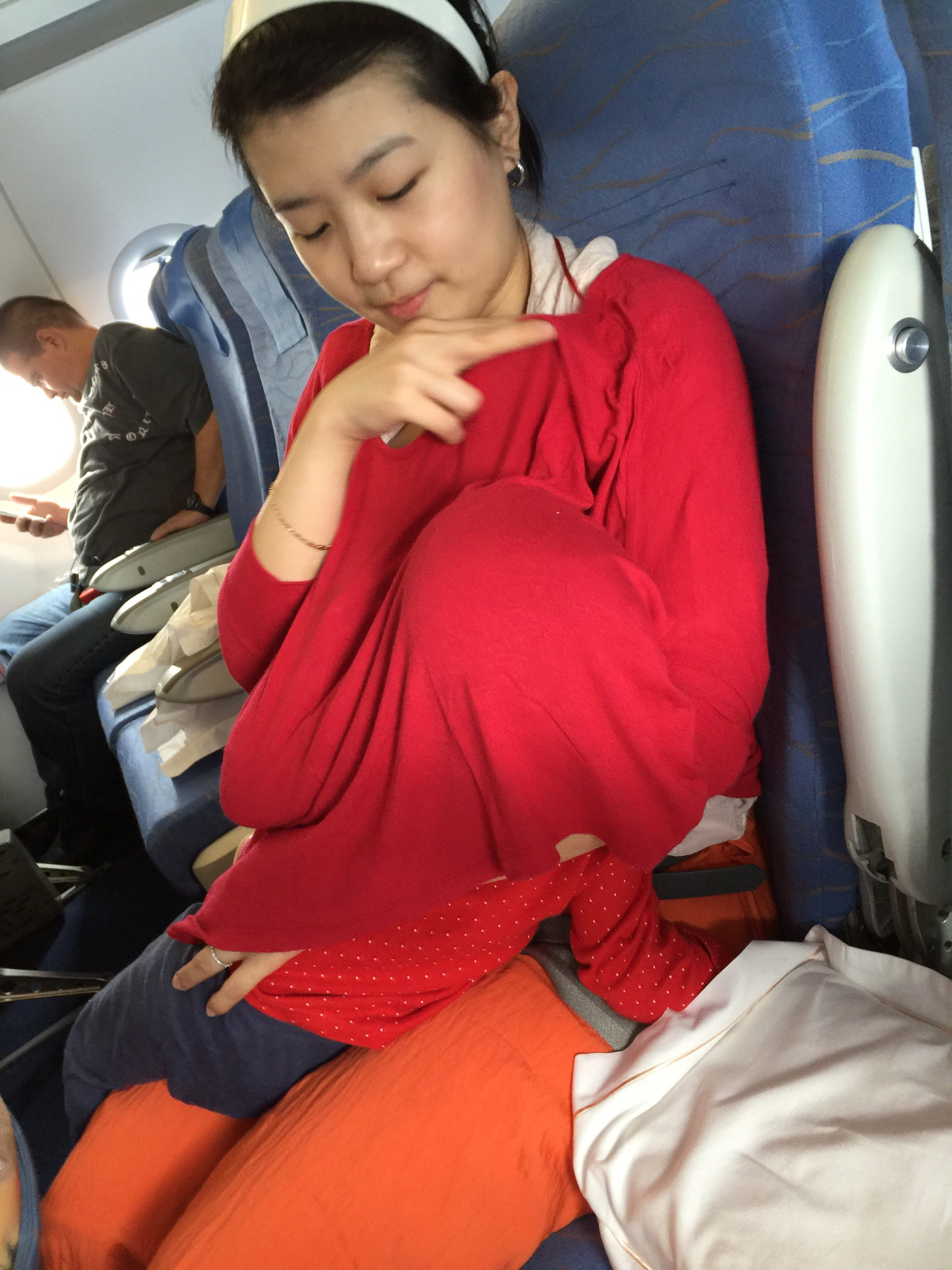 Breastfeeding in the airplane