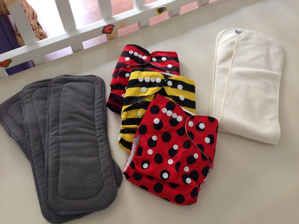 cloth diapers and inserts