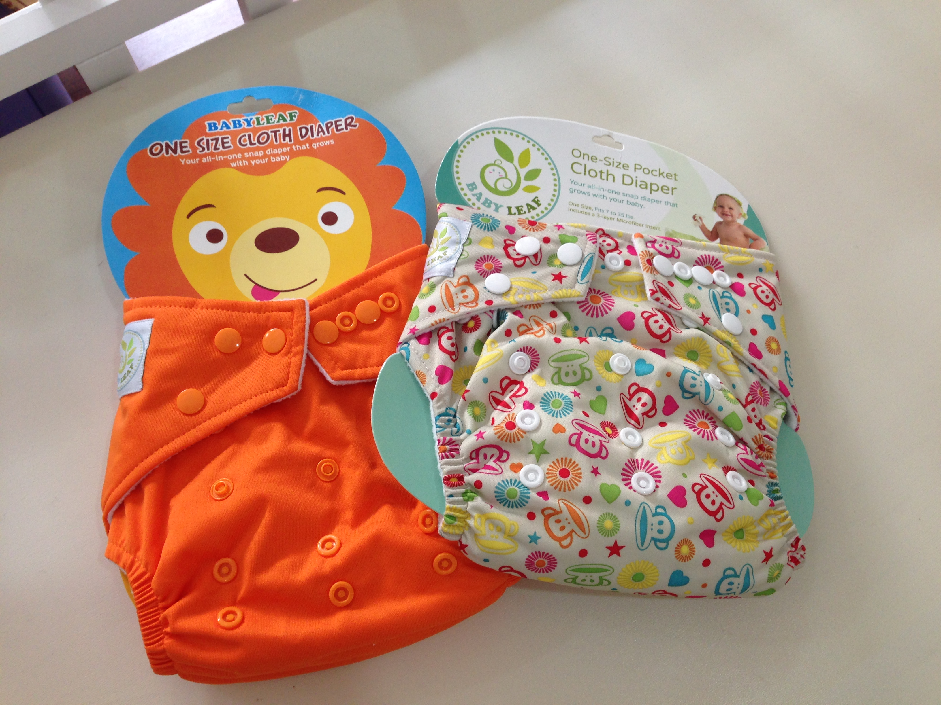 Baby Leaf cloth diaper for Light