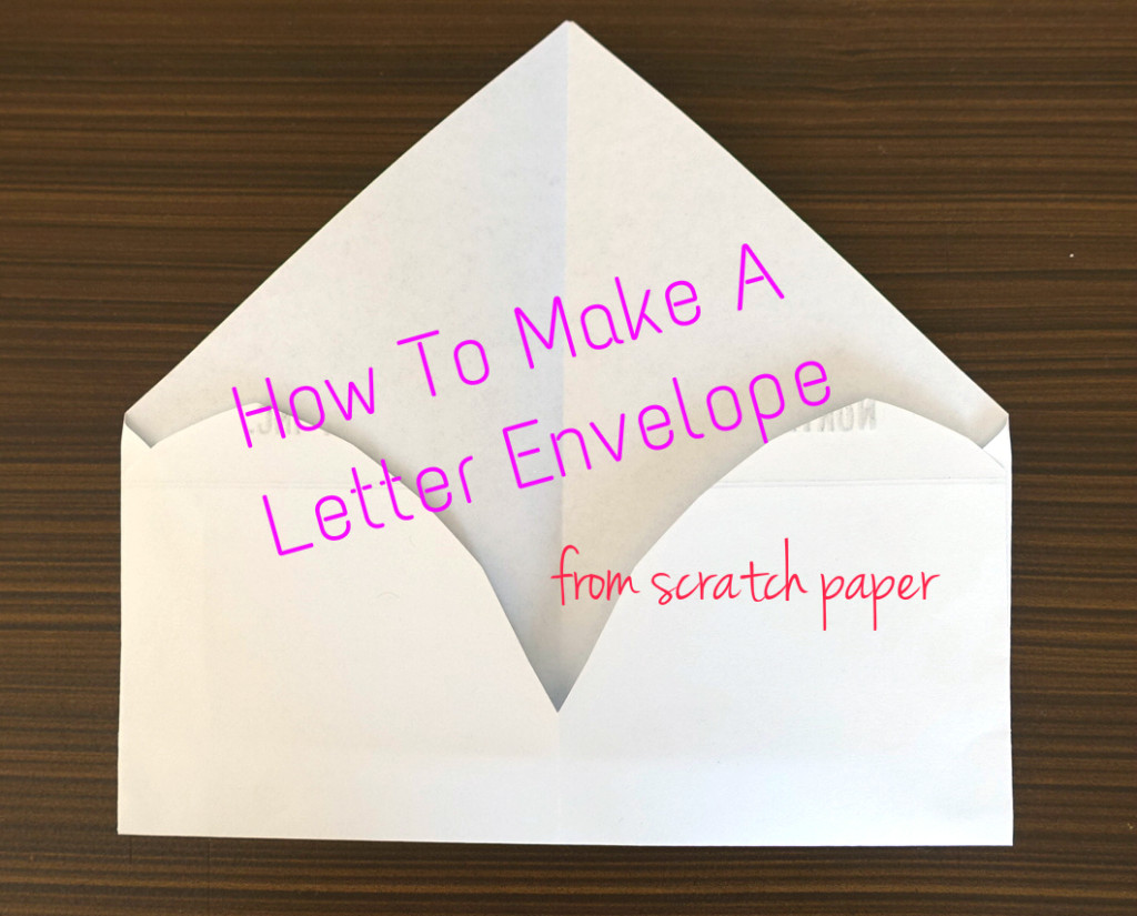 diy letter envelope the blog of light ong
