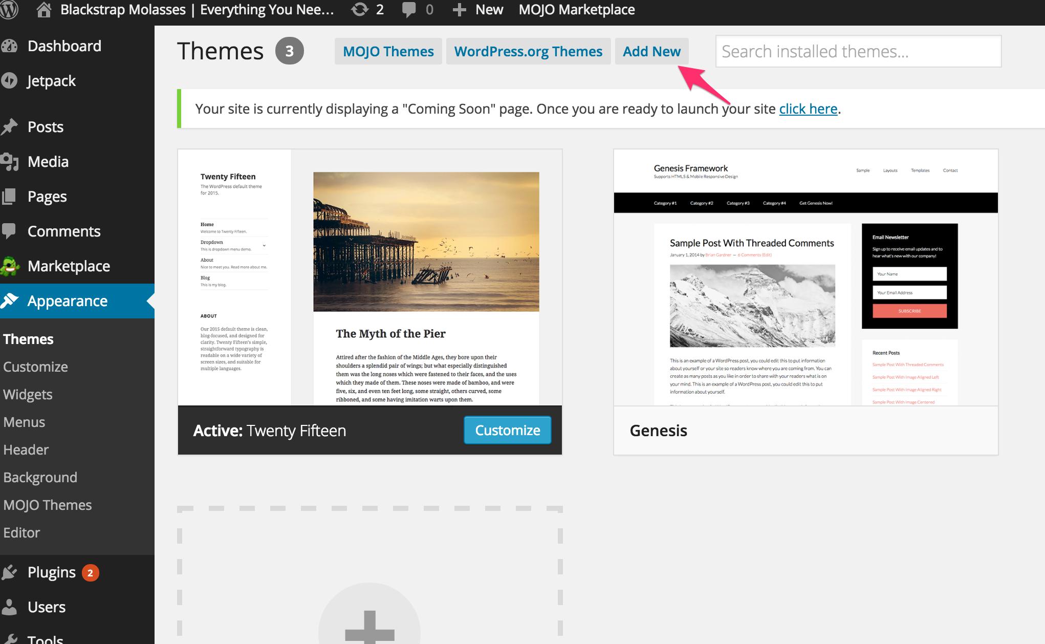 Adding Your Theme to WordPress