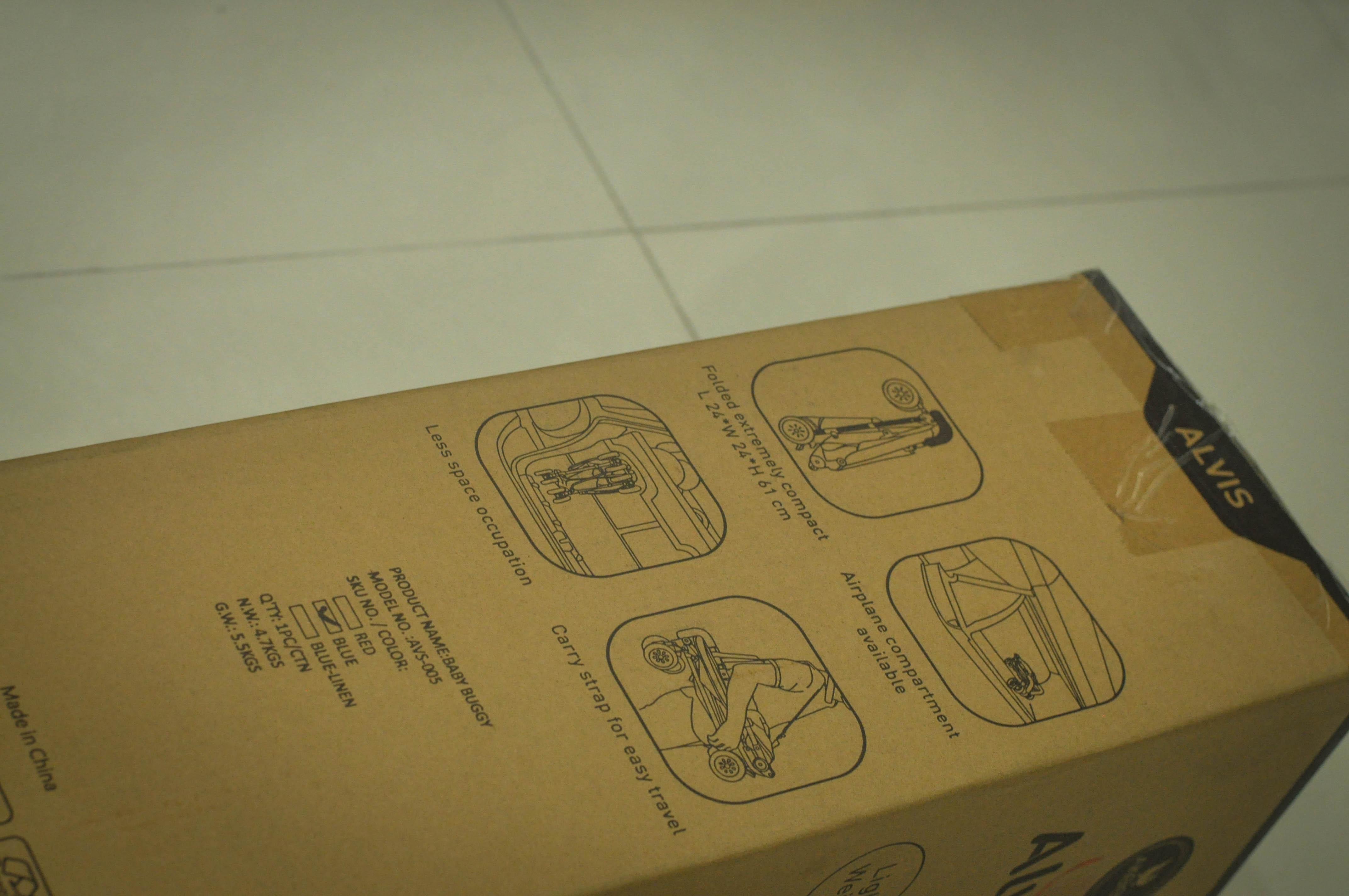 akeeva alvis pocket stroller carton